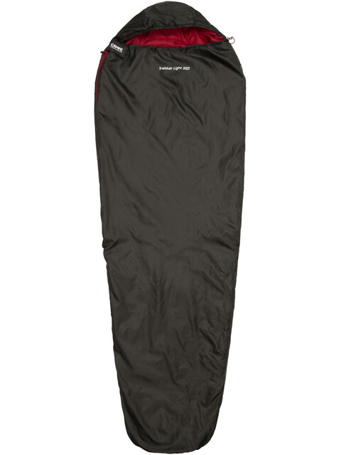 CAMPZ Trekker Light 300 Sleeping Bag anthracite/red